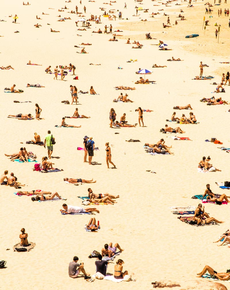 People at the beach.