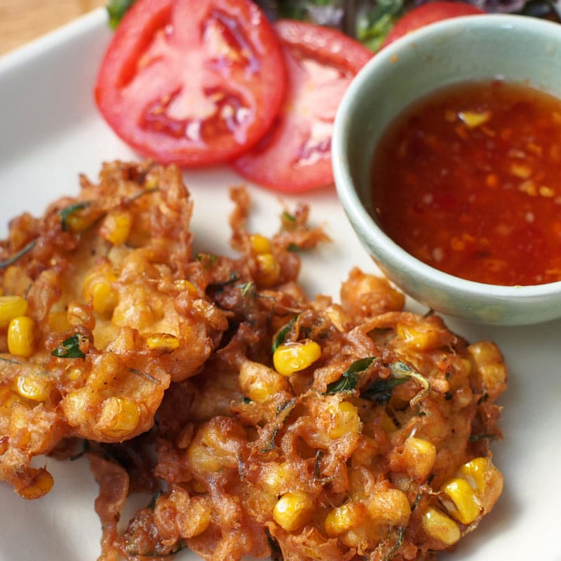 campfire corn fritters