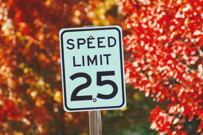 Speed limit 25 road sign