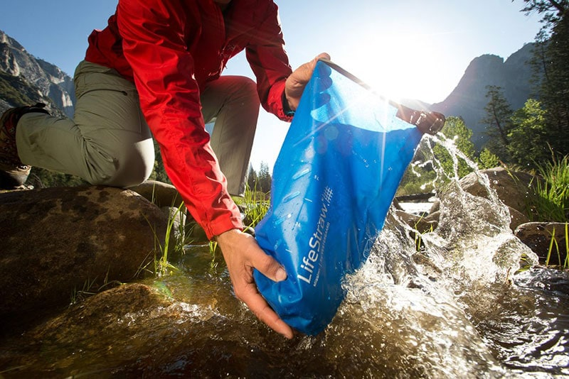 clean water for campfire cooking with LifeStraw Mission