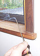 draft check your windows with incense