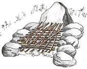 how to lay kindling on a campfire