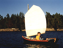 Boy in a sailboat