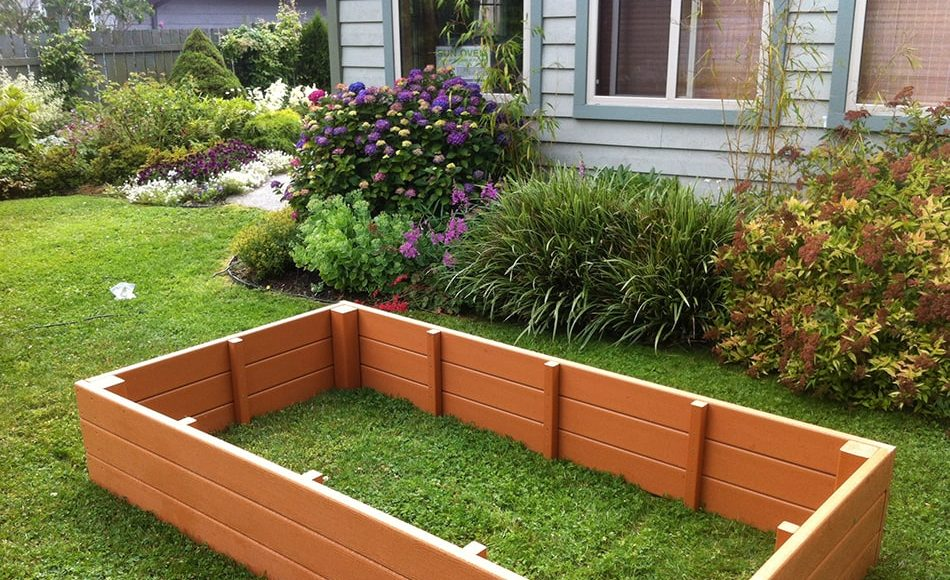 recycled plastic raised garden bed - Garden Bed