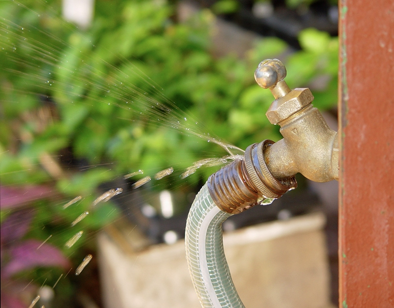 New hoses and fittings also help eliminate water-wasting leaks.