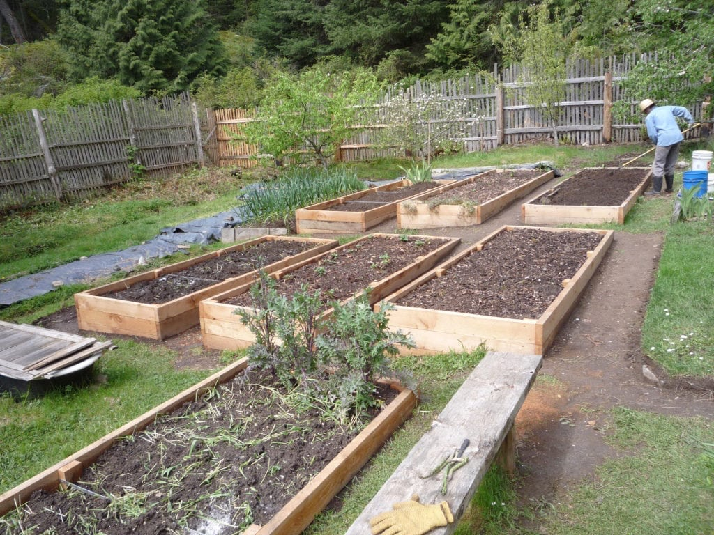 How to Build a Raised Garden Bed on Sloping, Uneven Ground ... Raised Bed Garden Designs For A Sloped Yard on