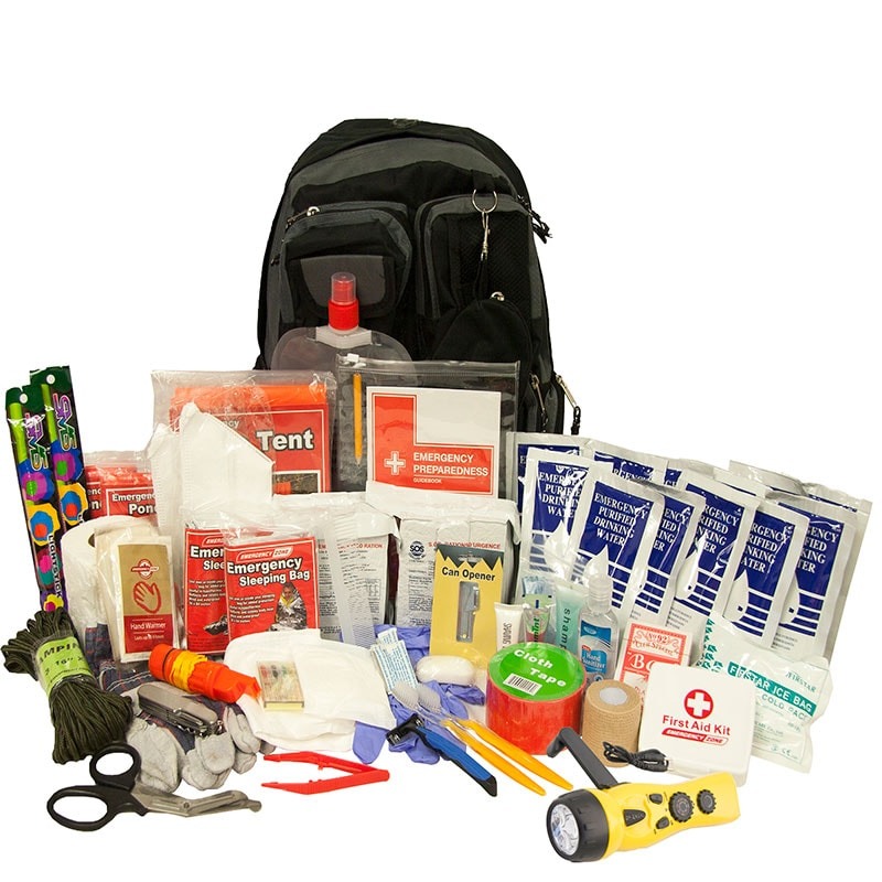 A 72-hour emergency kit should include food, water, first aid, and other supplies.