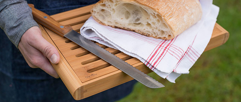 sustainable bamboo bread cutting board