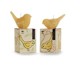 beeswax songbird candle with cotton wick